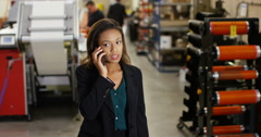 4K Frustrated & annoyed businesswoman dealing with business problems over phone Stock Footage