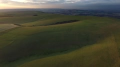 South Downs at sunset Stock Footage