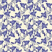 Vector pattern Imitation of chinese porcelain painting Stock Illustration