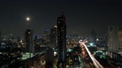 Timelapse of Bangkok night life, Thailand Stock Footage