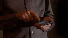 Typing the Smart Phone Stock Footage
