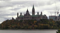 Canada's Parliament Buildings on a fall day Stock Footage