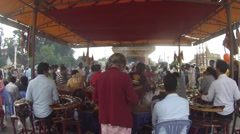 At a Temple on Sisowath Quay a band plays local music. Stock Footage