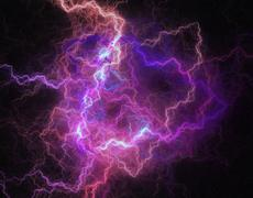 Lightning storm like space abstract background. Stock Illustration