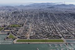 Marina District San Francisco California Aerial Kuvituskuvat