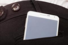 Samsung Galaxy Note 3 N9005 in pocket on December 4, 2014, Poland Stock Photos