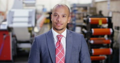 4k, Attractive young African American manufacturing manager having a video chat Stock Footage