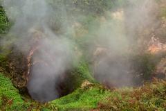 Vrata Ada Gate Hell Geyser in Valley of Geysers Stock Photos