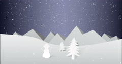 Illustration of christmas decoration Stock Footage