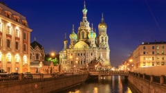 The Church of Our Savior on Spilled Blood in St. Petersburg, Russia Stock Footage