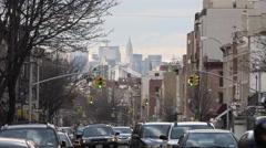 Washington Avenue in Brooklyn. Crown Heights Brooklyn. Stock Footage