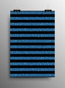 Vertical Poster Parallel Blue Sequins Lines. Stock Illustration