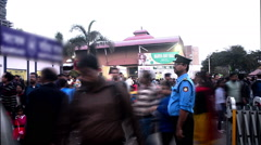 Time lapse of people walking inside book-fair at Kolkata. Stock Footage