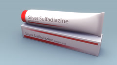 Silver Sulfadiazine Cream Stock Footage