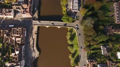 Titling aerial view of Bewdley, UK. Stock Footage