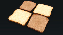 Bread Slices, 3d animation Stock Footage