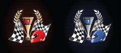 Racing prize grunge Stock Illustration