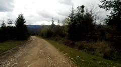 Car driving through the countryside in the mountains. Stock Footage