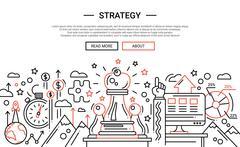 Strategy - line design website banner temlate Stock Illustration