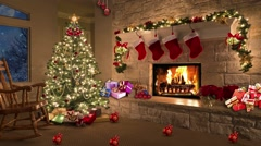 Christmas TV Studio Set 11 - Virtual Green Screen Background Loop Stock Footage