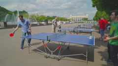 Timelapse Table tennis in park daytime HD Stock Footage