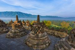 Borobudur Buddist Temple - island Java Indonesia Stock Photos