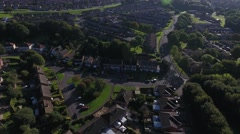 Aerial view of a quiet English housing area. Stock Footage