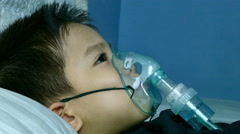 4K medical with inhalation treatment Stock Footage