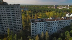 Pripyat Town, abandoned since Chernobyl nuclear disaster in 1986. Stock Footage