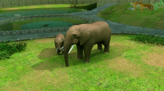 Zoological park 3d animation Stock Footage