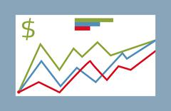 Statistic graphic element vector collection Stock Illustration