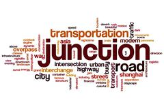 Junction word cloud Stock Illustration