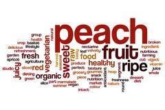 Peach word cloud Stock Illustration