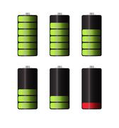 Rechargeable Batteries for Electronic Devices, Electric Car. Vec Piirros