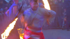 Fire Show Performance at Concert Stock Footage