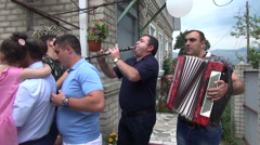 Musicians playing the Armenian national melody Stock Footage