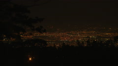 Illuminated cityscape view at night of San José Stock Footage