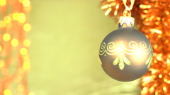Brown and gold Christmas Background video Stock Footage