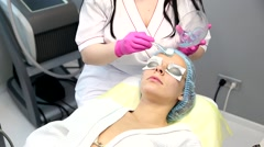 Photo Facial Therapy. Anti-aging Procedures. Stock Footage