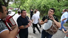 Musicians playing the Armenian national dance tune Stock Footage