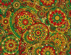 Vector flower paisley seamless pattern element. Elegant texture for backgrounds Stock Illustration
