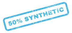 50 Percent Synthetic Text Rubber Stamp Stock Illustration