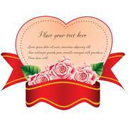 Heart with ribbon Stock Illustration