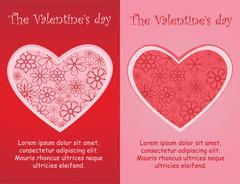 The Valentine days Stock Illustration