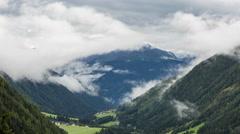 Alpine rain weather time lapse Stock Footage