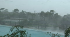 Major Hurricane Makes Landfall With Violent Wind And Rain Stock Footage