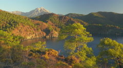 View from Lycian way to Tahtali mauntain in Turkey. Panning shot, UHD, 4K Stock Footage
