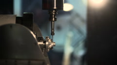 CNC machine metal cutting tool in operation Stock Footage