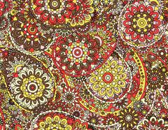 Vector seamless graphical paisley ethnic print with flowers, dots, leaves Stock Illustration