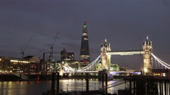 Time Lapse of Shard Building Opening Ceremony Laser Show, London Olympics 2012 Stock Footage
